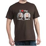 I Love the Bach Double Dark Brown T-Shirt