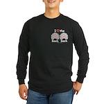 I Love the Bach Double Long Sleeve Black T-Shirt
