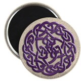 Celtic Amethyst Round Knot Magnet
