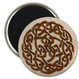 Celtic Dark Amber Round Knot Magnet