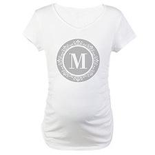 Gray | White Swirls Monogram Shirt