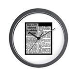 Celebrity Worship Wall Clock