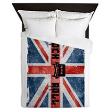 Rock Roll-British Flag Queen Duvet