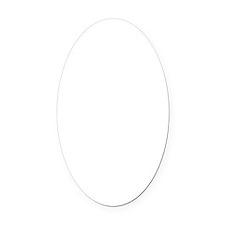 Poodle Bath Oval Car Magnet