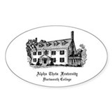 Alpha Theta Dartmouth Oval Decal