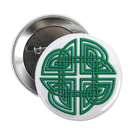 Celtic Four Leaf Clover Button