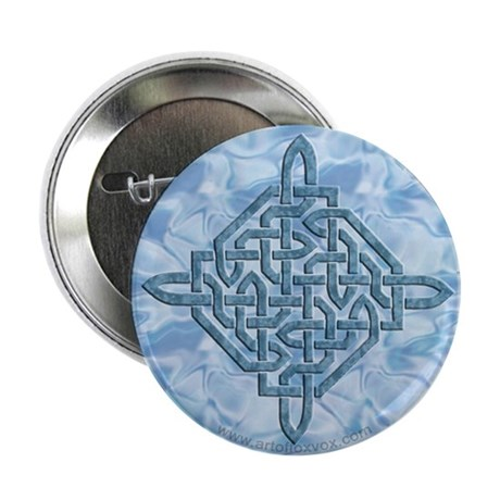 Celtic Diamond - Aqua - Button