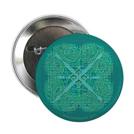 Celtic Two Coil Spiral Button