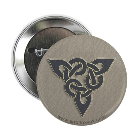 Celtic Triad Slate/Grey Knot Button