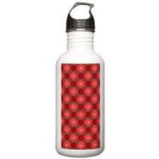 Retro Floral Pattern Water Bottle