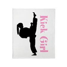 Kicker Girl Throw Blanket