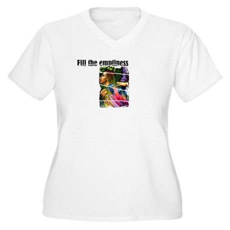 Fill the Emptiness Women's Plus Size V-Neck T-Shir