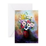Flower vase Greeting Cards