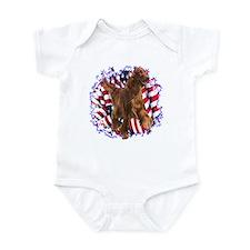 Irish Setter Patriotic Infant Bodysuit