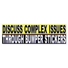 Discuss Complex Issues Through Bumper Stickers