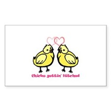 Chicks gettin' Hitched Rectangle Decal