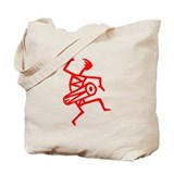 Drumming Petroglyph Tote Bag