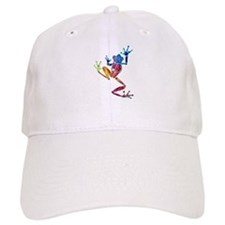 Whimsical Colors Tree Frog Baseball Cap