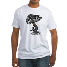 Halloween Snoopy Collage Fitted T-Shirt