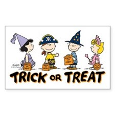 The Peanuts Gang: Trick or Tre Decal