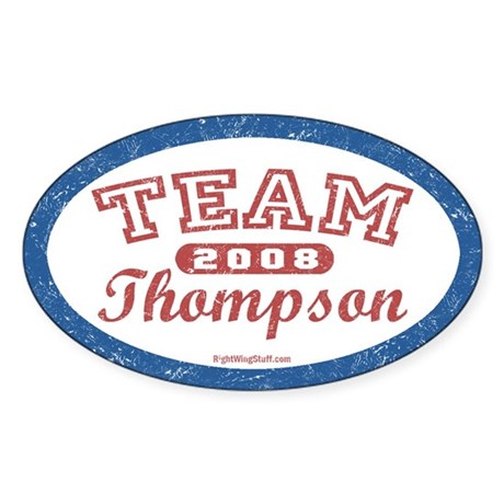 TEAM Thompson Oval Sticker