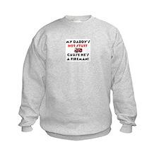 Daddy's Hot Stuff Kids Sweatshirt