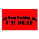 BUMPER STICKERS Rectangle Decal