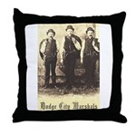 Dodge City Marshals Throw Pillow