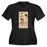 Wyatt Earp Women's Plus Size V-Neck Dark T-Shirt