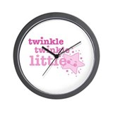 Twinkle Star Pink Wall Clock