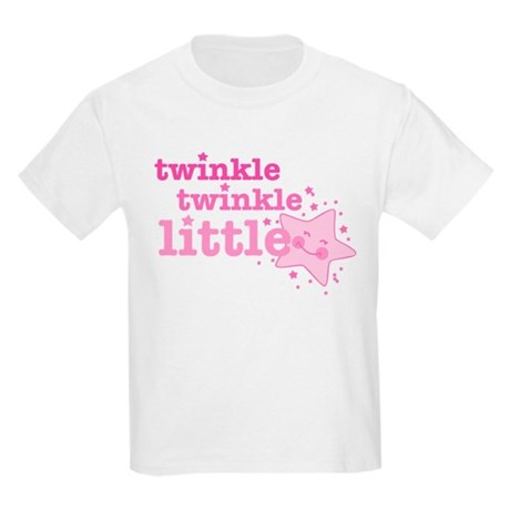 Twinkle Star Pink Kids Light T-Shirt
