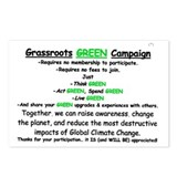 Grassroots GREEN Campaign Postcards (Package of 8)