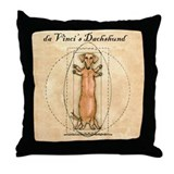 Da Vinci's Dachshund Throw Pillow
