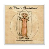 Da Vinci's Dachshund Tile Coaster