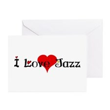 I love jazz heart Greeting Cards (Pk of 10)
