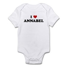 I Love ANNABEL Infant Bodysuit