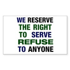 Serve Refuse Decal