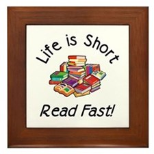 Life is Short<br> Framed Tile