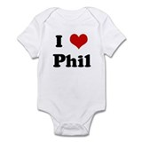 I Love Phil Infant Bodysuit