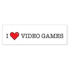I Love Video Games Bumper Bumper Sticker
