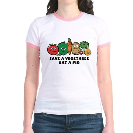 Save a Vegetable Jr. Ringer T-Shirt