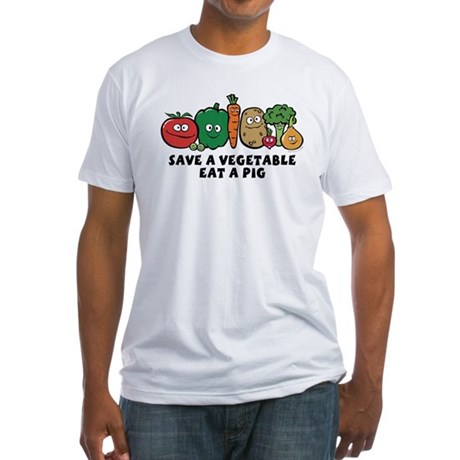 Save a Vegetable Fitted T-Shirt