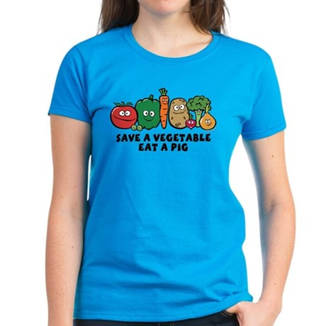 Save a Vegetable Women's Dark T-Shirt