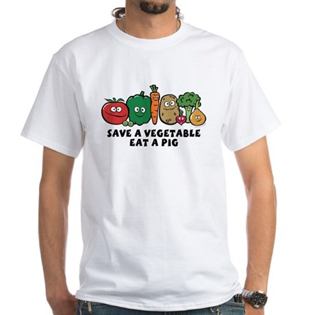 Save a Vegetable White T-Shirt