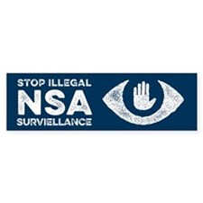 Stop the NSA Bumper Bumper Sticker