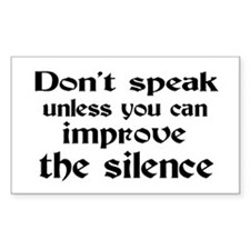 Don't Speak Decal