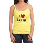 I Love Bulldogs Jr. Spaghetti Tank