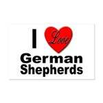 I Love German Shepherds Mini Poster Print