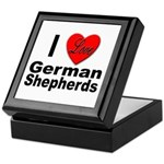 I Love German Shepherds Keepsake Box