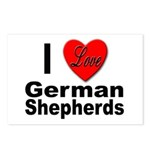 I Love German Shepherds Postcards (Package of 8)